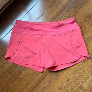 Lululemon Run Times Short   Coral Pink